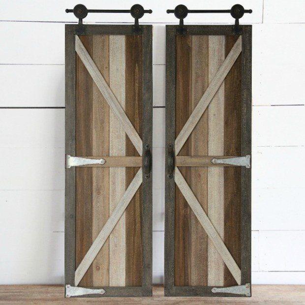 Barn Door Decorative Wall Panels Set Of 2 Barn Door Decor Decorative Wall Panels Wall Panels