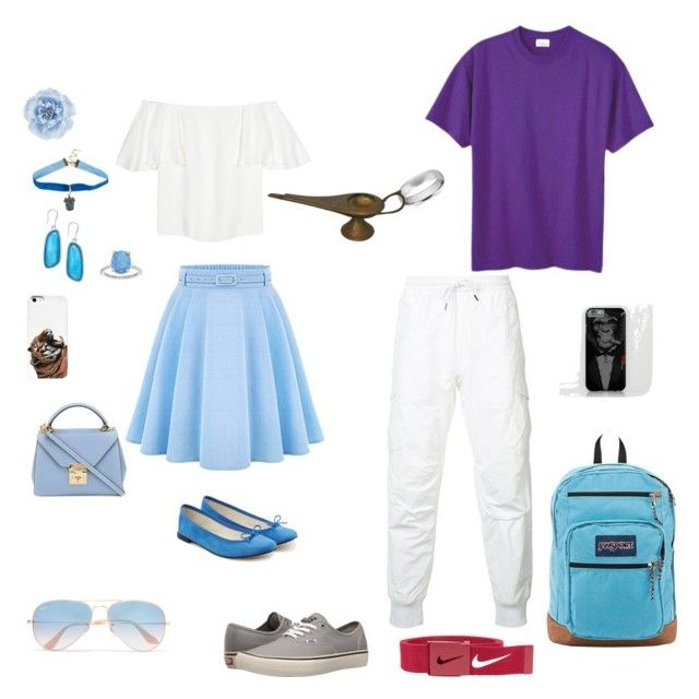 """""""Jasmine and Aladdin"""" by daddys-princess-taken ❤ liked on Polyvore featuring Valentino, WithChic, Repetto, Mark Cross, Charter Club, Warner Bros., SOPHIE MILLER, Ray-Ban, Monsoon and Maharishi"""