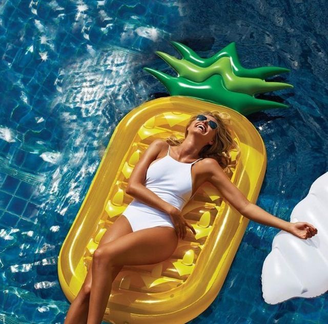 Piña inflable Gigante Piscina Flotador Inflable Colchón De Aire Inflable Fruta Barco de la Diversión Del Partido Niños Adultos Piscina Inflable Juguetes