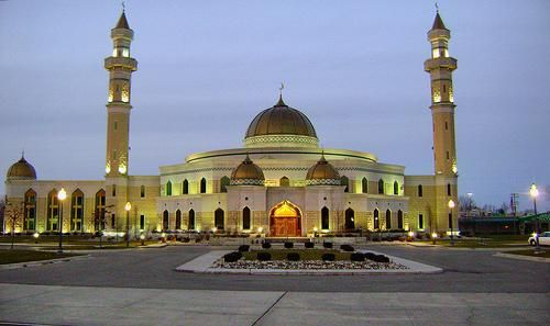 Islamic Center of America in Dearborn, Michigan, the largest mosque in the United States