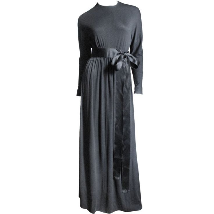 1960's Norman Norell Attributed Empire Waist Dress | From a collection of rare vintage day dresses at https://www.1stdibs.com/fashion/clothing/day-dresses/