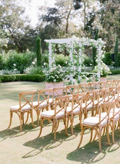 Gorgeous ceremony inspiration: http://www.stylemepretty.com/2015/02/26/spring-santa-barbara-wedding-at-villa-sevillano-part-i/ | Photography: Jose Villa - http://josevilla.com/