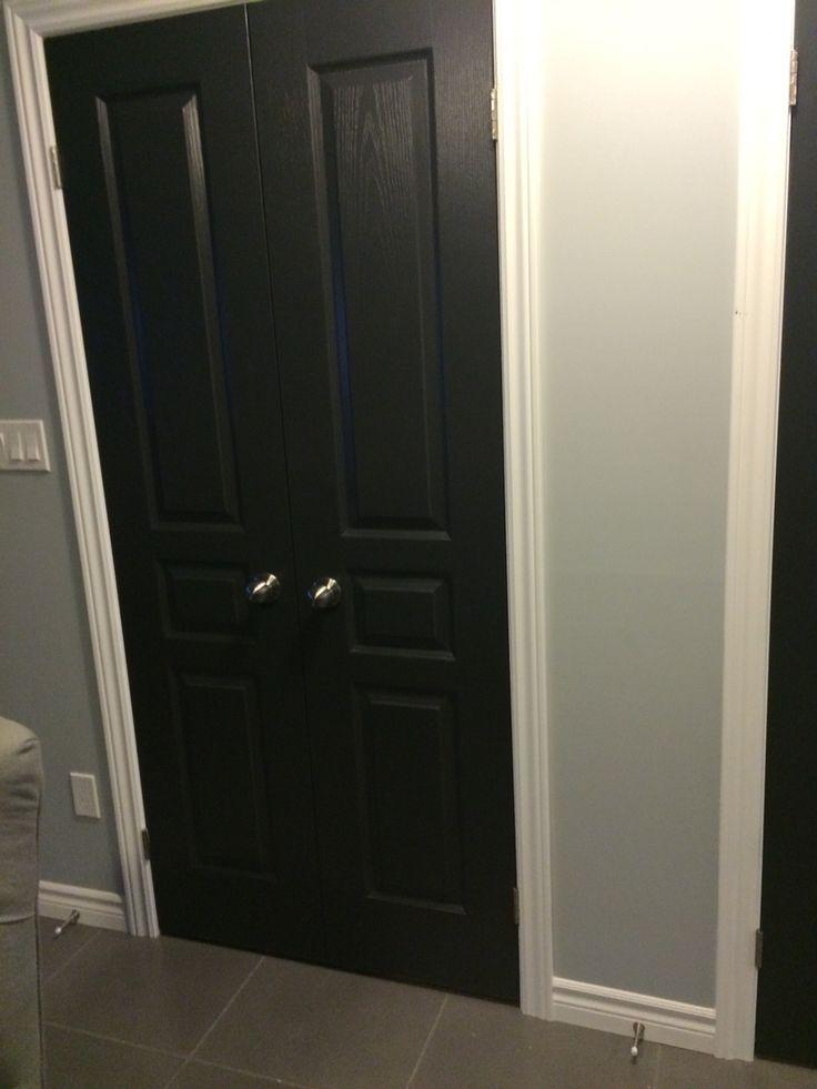 black doors benjamin moore black ink satin finish. Black Bedroom Furniture Sets. Home Design Ideas