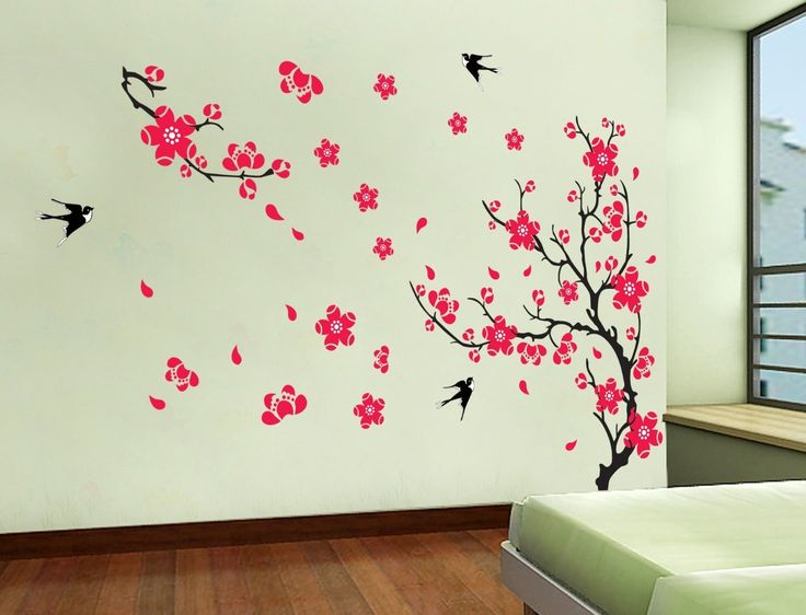 Wall Designs Stickers 157 best floral wall decals images on pinterest | floral wall