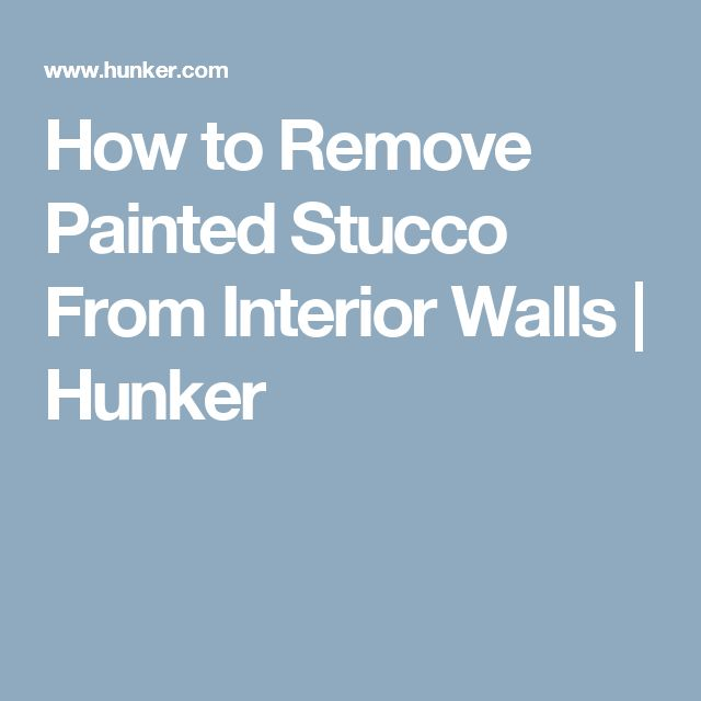 how to remove painted stucco from interior walls tile tub surround how. Black Bedroom Furniture Sets. Home Design Ideas