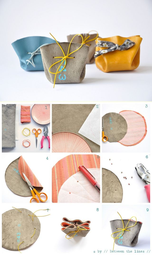 DIY pouches/coin purses
