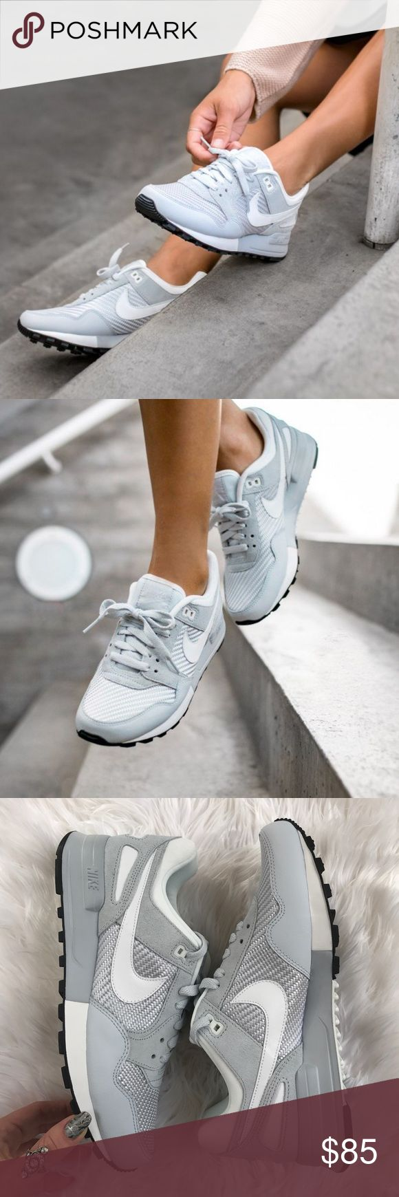 NWT nike Air Pegasus platinum Brand new no box lid,price is firm!A classic Nike BRS shoe from '89.  Leather/textile upper for premium style. IP midsole for added comfort. Rubber outsole for traction and durability. Nike Shoes Sneakers