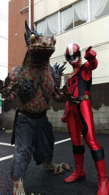 local hero Dharuriser and monster