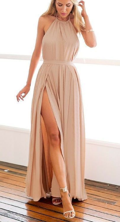 Elegant party dress Chiffon party dress Backless Prom Dress,Long Evening Formal Dress