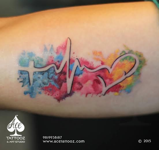 45 Perfectly Cute Faith Hope Love Tattoos And Designs With: As 20 Melhores Ideias De Tatuagem De Batimento Cardiaco No