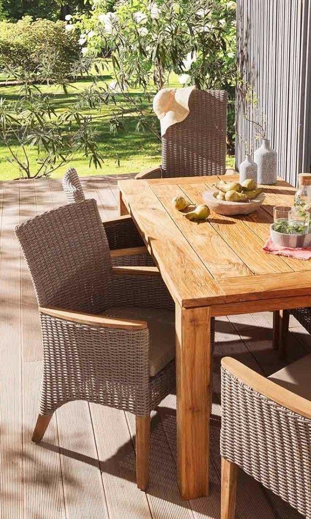 Romantische Gartengestaltung für Deinen Outdoorbereich - Geflechtsessel in Light-Grey von OUTLIV.