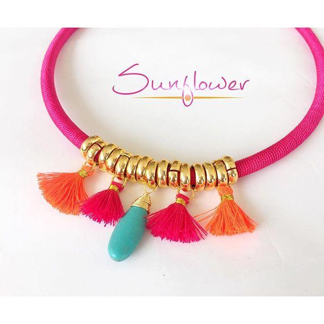 Collar princesa flor hermoso collar tejido con hilo seda for Accesorios bano turquesa