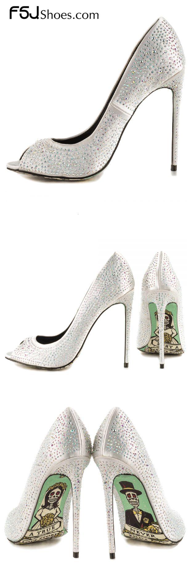 Women's Wedding Shoes Winter Fashion Wedding Ideas Women's Silver Glitter Peep Toe Stiletto Heels Wedding Shoes with Scrawling Print Winter Fashion Wedding Ideas Christmas Outfit Casual| FSJ