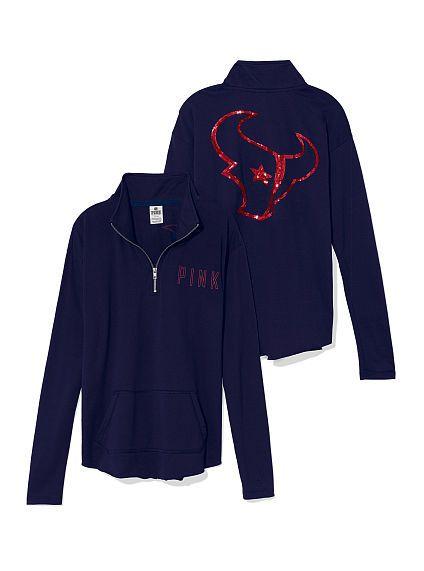 Houston Texans Bling Half Zip Pullover - PINK - Victoria's Secret