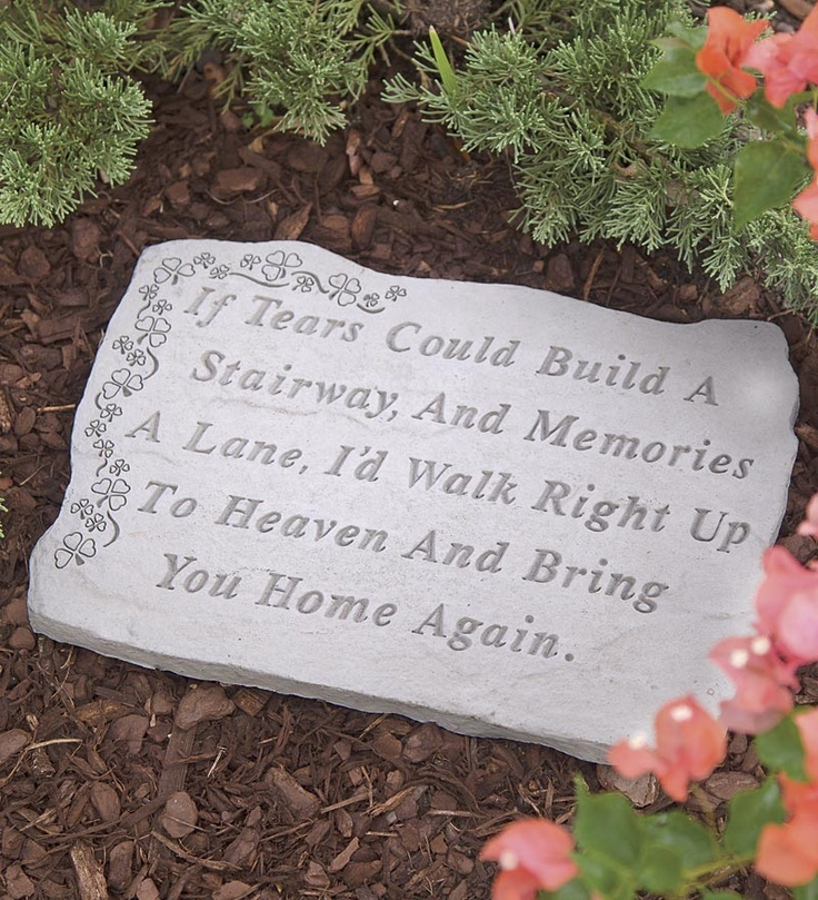 Memorial Garden Ideas flower gardening Handmade Memorial Garden Stone Made In Usa