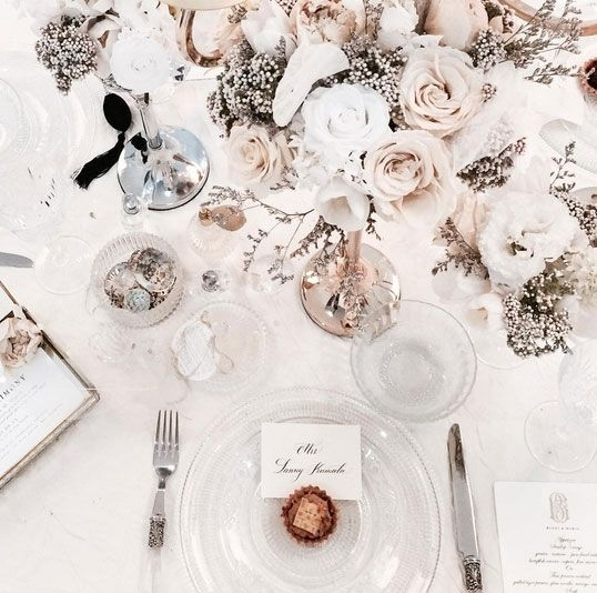 46 best wedding reception table setting ideas images on pinterest tea rose wedding designer junglespirit Gallery