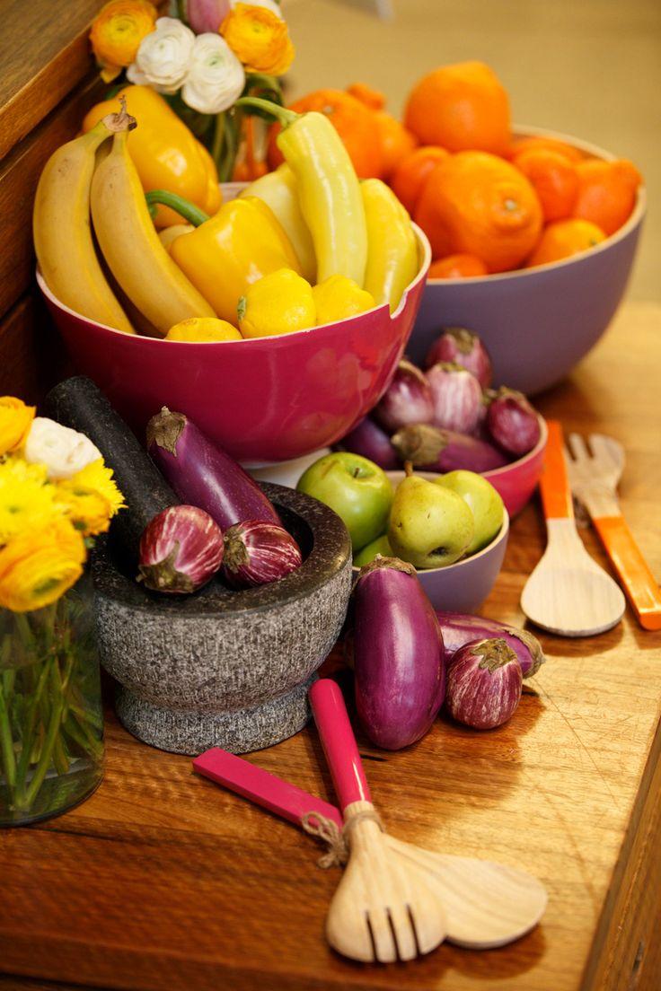 Fresh food display at Highpoint's sampling station