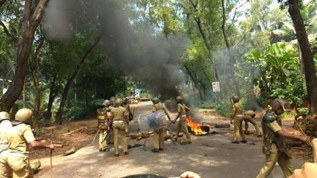 FOR A CHANGE LDF PUSHING GROWTH ENGINE IN KERALA: FACES PROTEST AGAINST GAIL PIPELINE PROJECT WITH  POLICE POWER