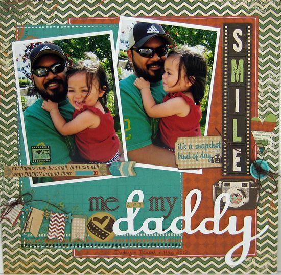 Sarah Eclavea designed this adorable multi photo layout using the new Mama Razzi2 collection. #BoBunny,
