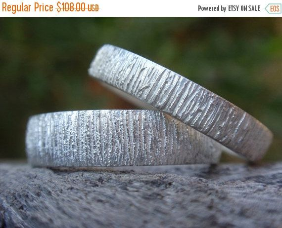 SALE 10% OFF unique wedding bands set of 2 wedding by preciousjd