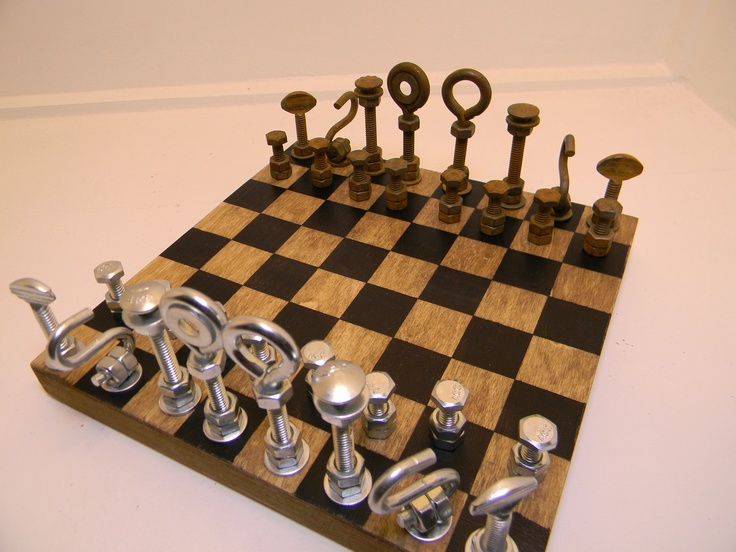 projects ideas metal chess pieces. Hardware Chess Set 36 best 3D images on Pinterest  games sets
