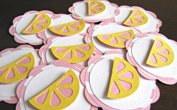 Pink Lemonade Party Tags  Set of 12 by ScrapYourStory on Etsy, $12.00