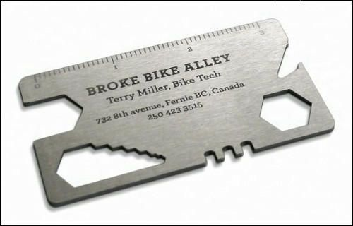 Bicycle Repair Tool Business Card