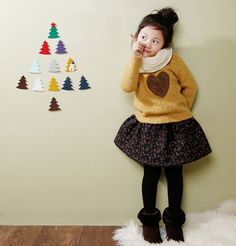 [The Jany] Heart Knitted Top