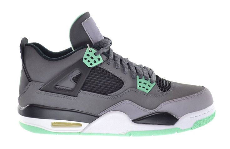 Air 4 Retro Zyesy Mens Womens Dark Grey/Green Glow-Cement Grey-Black Basketball Shoes * Wow! I love this. Check it out now! : Basketball shoes