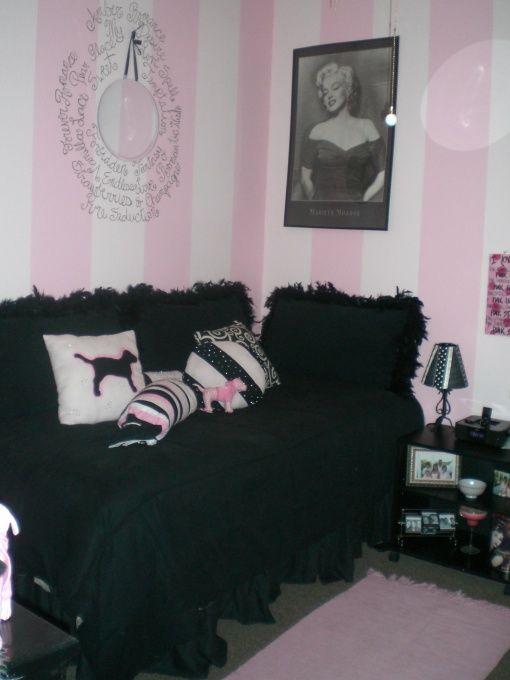 Victoria Secret Decorating Ideas | Secret, This is a college apartment bedroom. The theme is Victoria ...