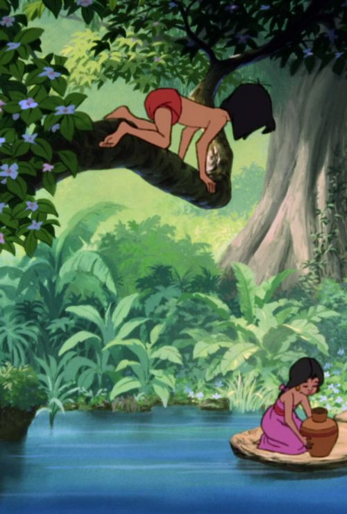 "Brady, this was your favorite movie when you were young.  You would crawl, not on your hands and knees, but on your hands and feet like Mowgli. It was so cute! ""Bare necessities, the simple bare necessities, forget about your worries and your strife!"""