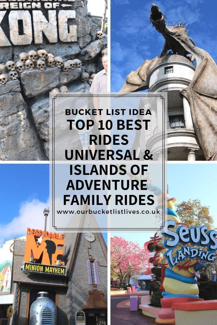 Top 10 Best Rides Universal Islands Of Adventure Family Rides Universal Islands Of Adventure Island Of Adventure Orlando Universal Studios Orlando Planning