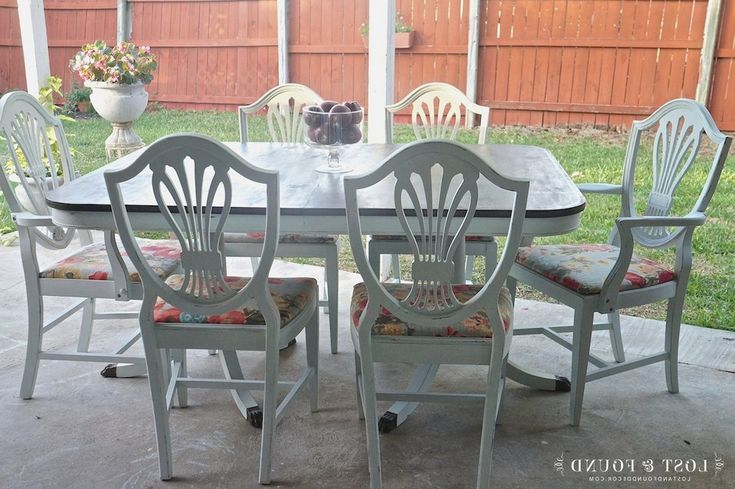 164 best Painted Dining Set images on Pinterest   Dining ...