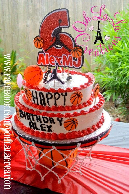 Jordan Cake Topper | Jordan/Basketball Party | Pinterest ...