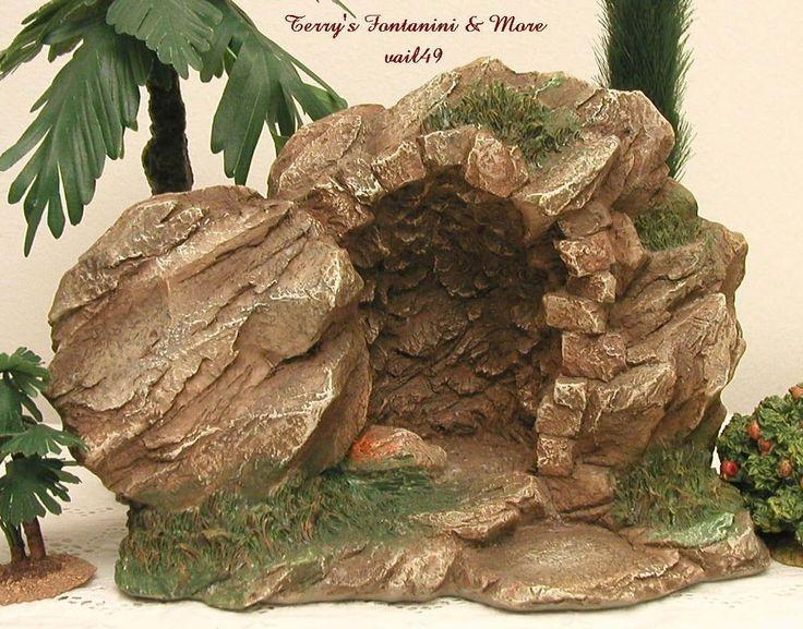 "Fontanini italy 5""lighted empty tomb resurrection scene life of christ 50625 nib"