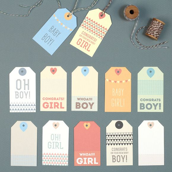 New Baby Boy Gift Tag : New baby gift tags crafts
