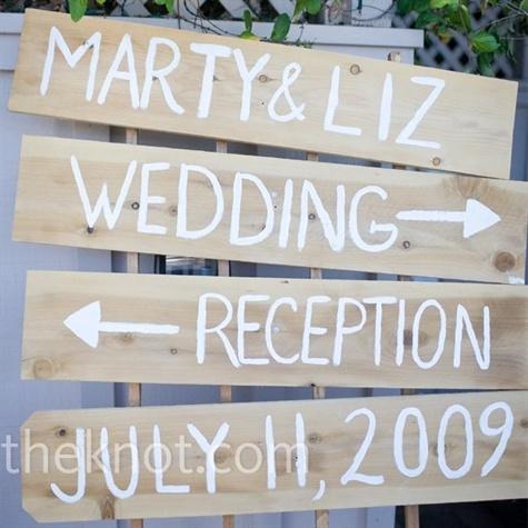 DIY wedding signage