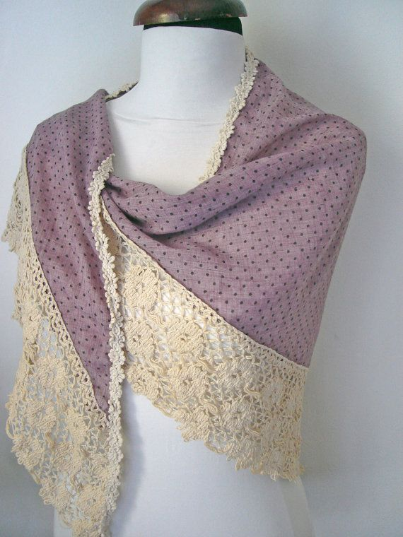 Check out this item in my Etsy shop https://www.etsy.com/uk/listing/234397452/purple-lace-scarf-lavender-scarf-for