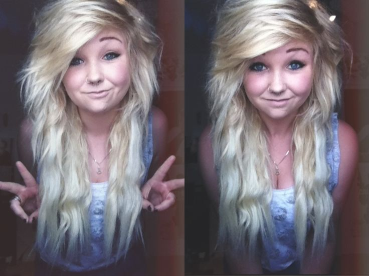My hair basically looks like this at the moment, except it has a lot of blue in through it x3