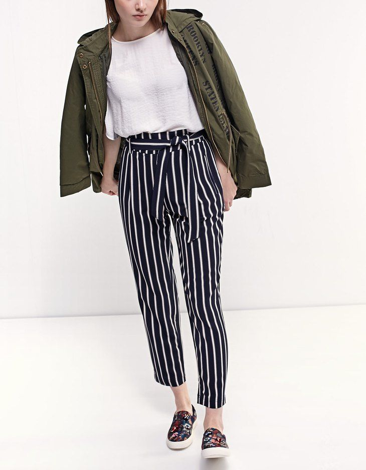 At Stradivarius you'll find 1 Loose-fitting paperbag trousers for just 25.99 United Kingdom . Visit now to discover this and more Trousers.