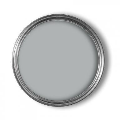 Beton en Cement van Flexa zijn mooie, koele grijstinten voor bij de parketvloer. Gister heeft grijs SN.02.67 en lichtgrijs SN.02.82 (uit VT Wonen).