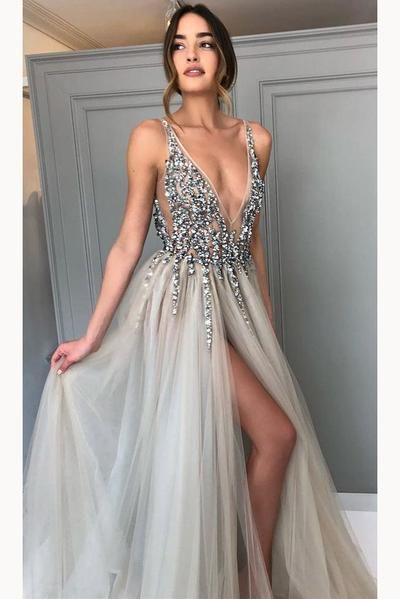 285b32eee21 New Style Popular A Line Sleeveless Long Prom Dresses Formal Dress ...