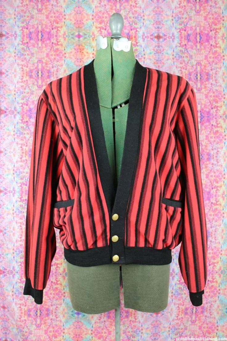 Striped Red Vintage 1950s Sweater