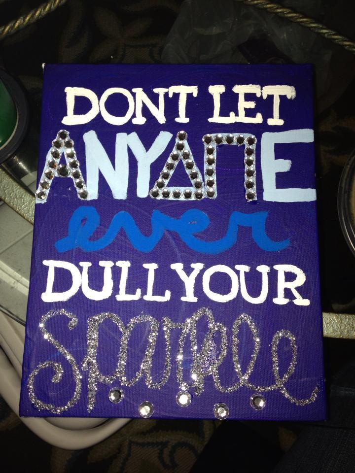 I painted this for one of my sisters as an early Christmas present. ADPi love! submitted by: habladoraaa