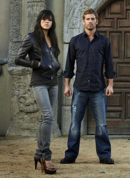 Paul Walker and Michelle Rodriguez... OMG THOSE SHE'S ARE ADORB!!!!!!!