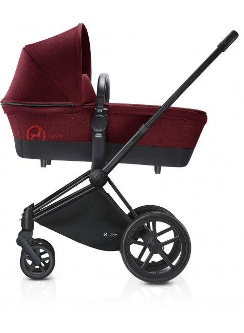 Cybex Priam Kinderwagen Set Schwarz / Infra Red mit Lux Sitz - Kleine Fabriek. Mehr Infos auf https://www.kleinefabriek.com/.