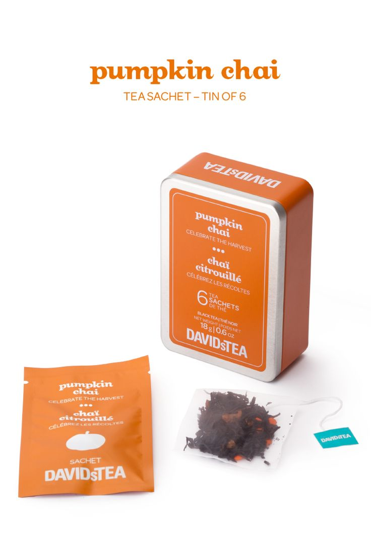 ... black tea spiced with caramel, pumpkin candies, cinnamon and cloves
