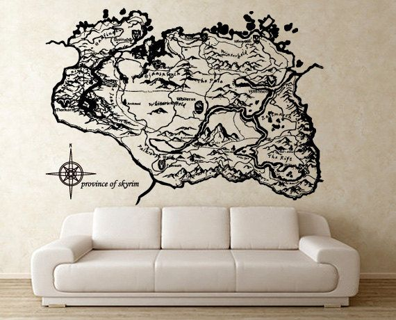Province of Skyrim Vinyl Wall Art Decal WD0582 by Tapong on Etsy, $39.99