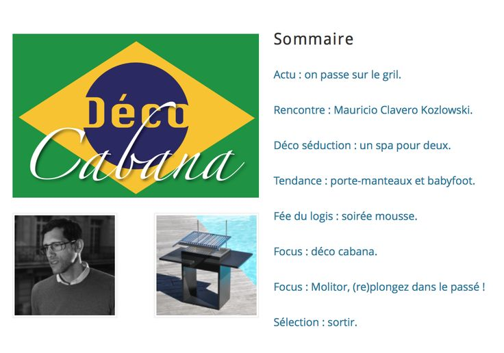 Le nouveau numéro est en ligne ! Venez vite le découvrir sur http://hommedeco.fr/