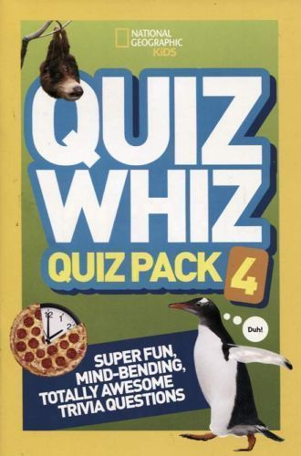 National Geographic Kids Quiz Whiz Quiz Pack #4 Super Fun Trivia Questions! New